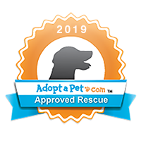 Logo for Adopt a Pet. Approved Rescue.